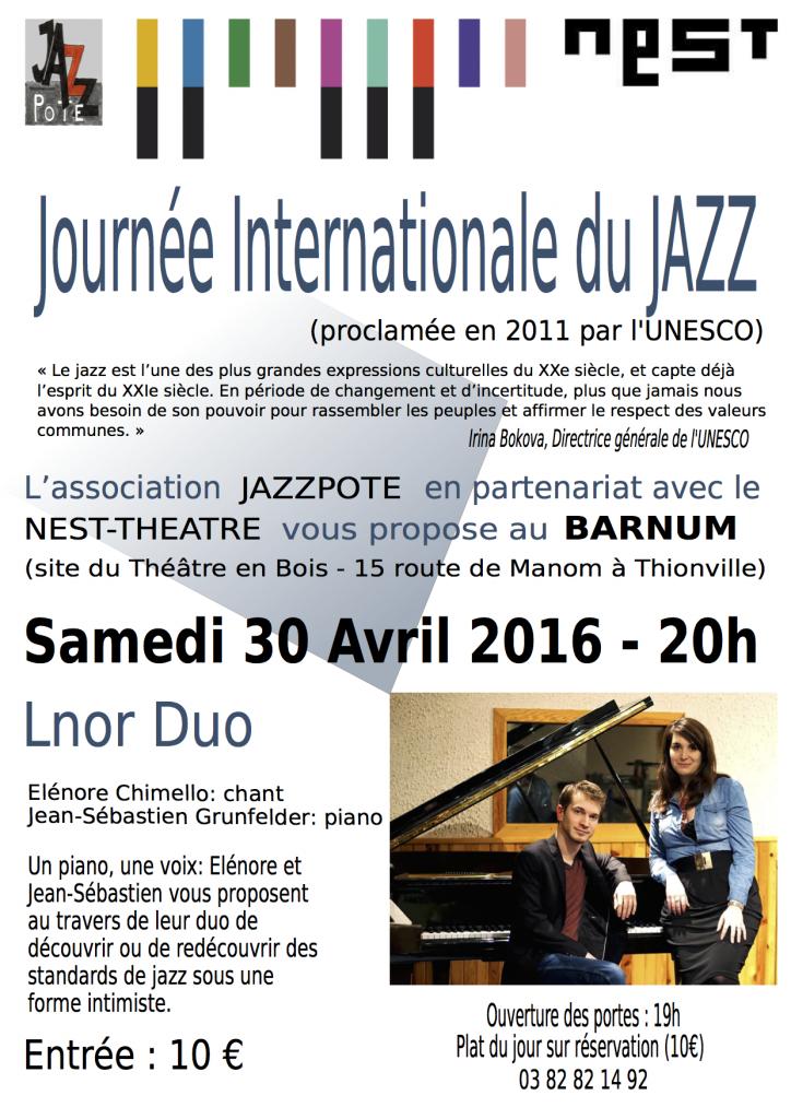Journée Internationale du Jazz 2016